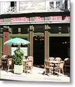 Le Charleston Bar In Tournus Metal Print