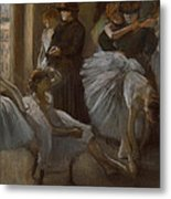 Le Foyer De L'opera Metal Print by Edgar Degas