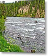 Le Hardy Rapids Of Yellowstone River In Yellowstone River In Yellowstone National Park-wyoming   Metal Print