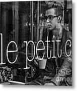 le petit cafe' Montreal Metal Print