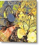 Le Printemps Des Papillons Metal Print