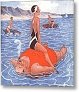 Le Sourire 1930s France Holidays Metal Print