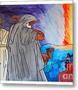 Lead By The Pillar Of Fire Metal Print