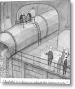 Leading A Federal Reserve Tour Group Metal Print