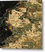 Leaf Abstract Ode To Klimt Metal Print