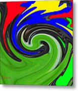 Leaf And Color Abstract Metal Print