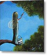Leaf Fairy By Shawna Erback Metal Print by Shawna Erback