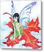 Leaf Fairy Metal Print