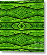 Leaf Structure Abstract Metal Print