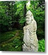 Leafy Path And Statuary Abby Aldrich Garden Metal Print