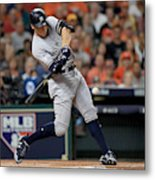 League Championship Series - New York Yankees v Houston Astros - Game Seven Metal Print