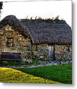 Leanach Cottage Metal Print