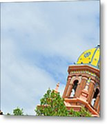 Leaning - Architectural Detail Metal Print