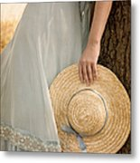 Leaning Beauty Metal Print