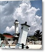 Leaning Lighthouse Of Mexico Metal Print