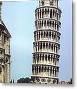 Leaning Tower Metal Print
