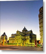 Leaning Tower By Dusk  Metal Print