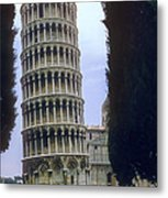 Leaning Tower Of Pisa Metal Print