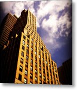 Leaps Tall Buildings With A Single Bound - Skyscraper Metal Print