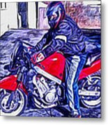 Learn How To Ride Metal Print