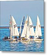 Learning To Sail  Metal Print