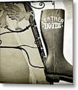 Leather Boots Metal Print