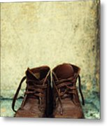 Leather Children Boots Metal Print