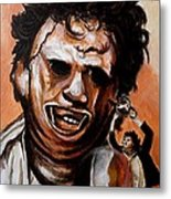 Leatherface Unleashed Metal Print