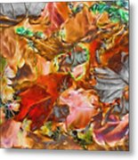 Leaves Abstraction I   Metal Print