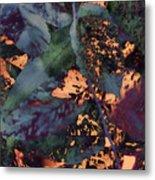 Leaves Abstraction IIi Metal Print