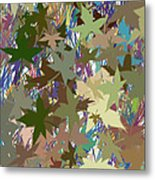 Leaves And Grass Abstract Metal Print