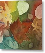 Leaves Vl Metal Print