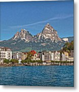 Leaving Brunnen Metal Print