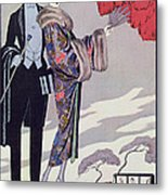 Leaving For The Casino Metal Print by Georges Barbier