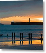 Leaving Port Metal Print