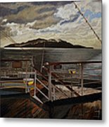 Leaving Queen Charlotte Sound Metal Print