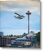 Leaving Seattle Metal Print
