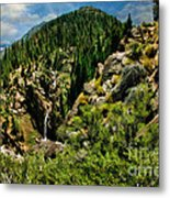 Leavitt Falls From Afar Metal Print