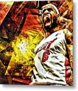 Lebron James Art Poster Metal Print