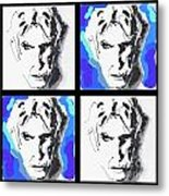 Lectric Blue Collage Metal Print
