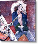 Led Zeppelin Jimmi Page And Robert Plant  Metal Print by Yuriy  Shevchuk