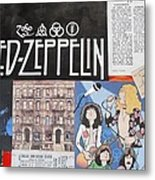 Led Zeppelin Past Times Metal Print