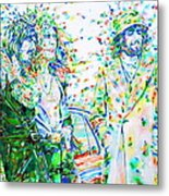 Led Zeppelin - Watercolor Portrait.2 Metal Print