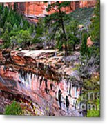 Ledge At Emerald Pools In Zion National Park Metal Print
