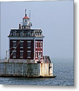 Ledge Light - Connecticut's House In The River  Metal Print