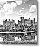 Leeds Castle Black And White Metal Print