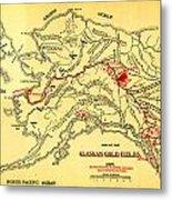Lees Map Of The Alaskan Gold Fields 1897 Metal Print