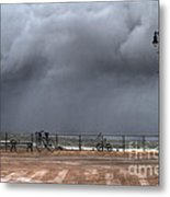 Left In The Power Of The Storm Metal Print