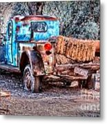 Left Over Hay Metal Print