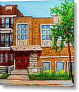 Legare And Hutchison Synagogue Montreal Metal Print